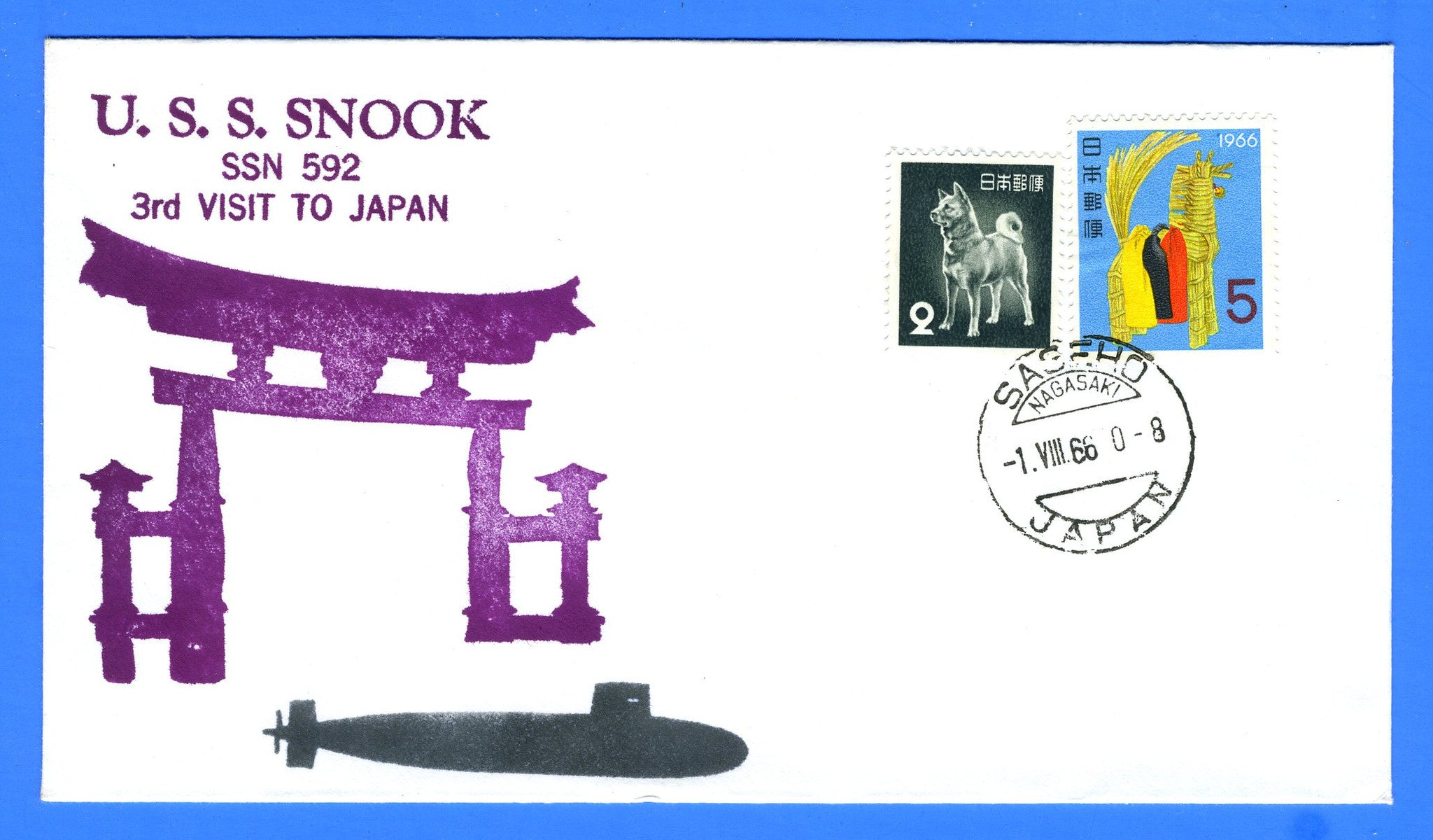 USS Snook SSN-592 3rd Visit to Japan August 1, 1966