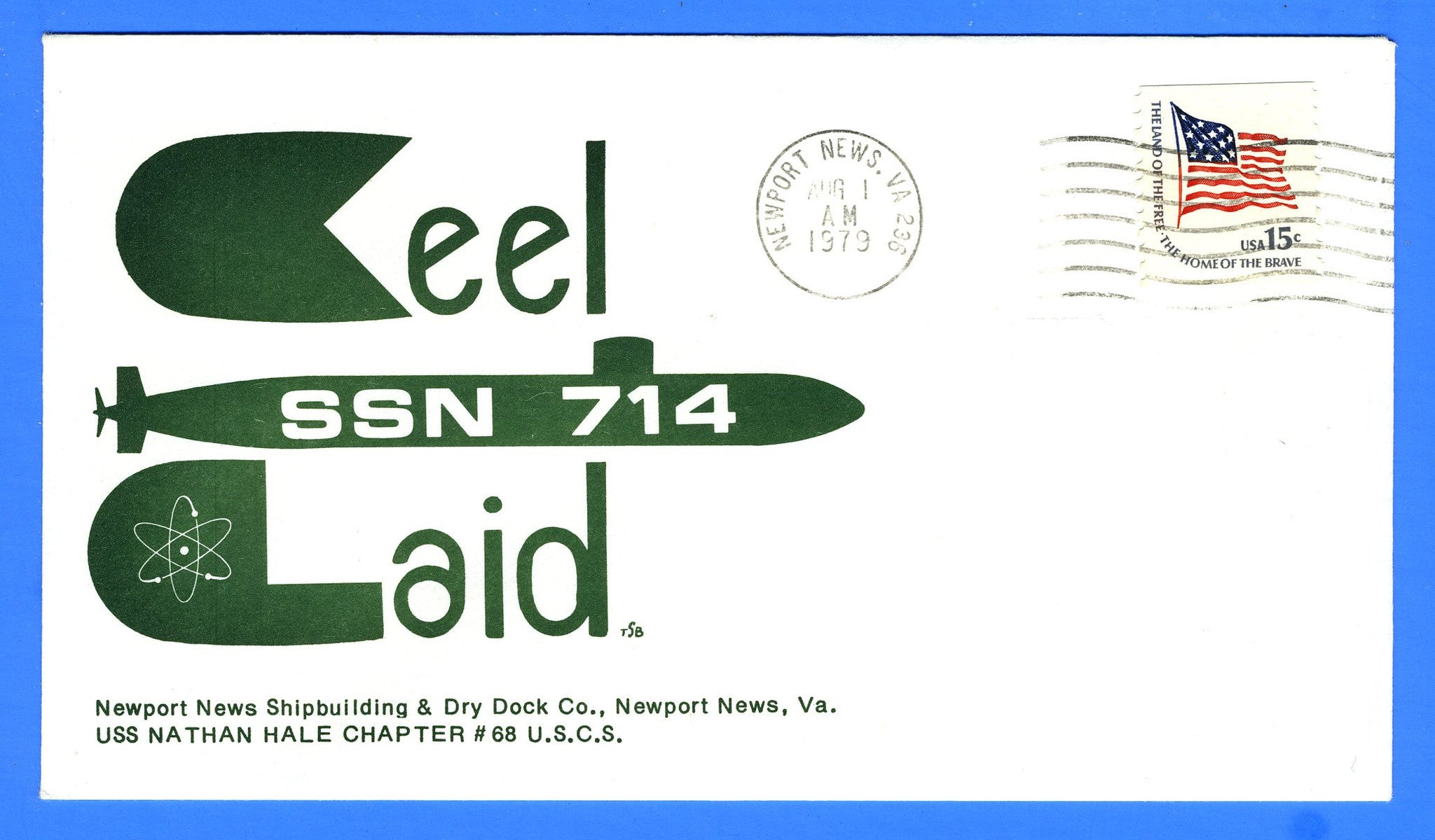 USS Norfolk SSN-714 Keel Laid August 1, 1979