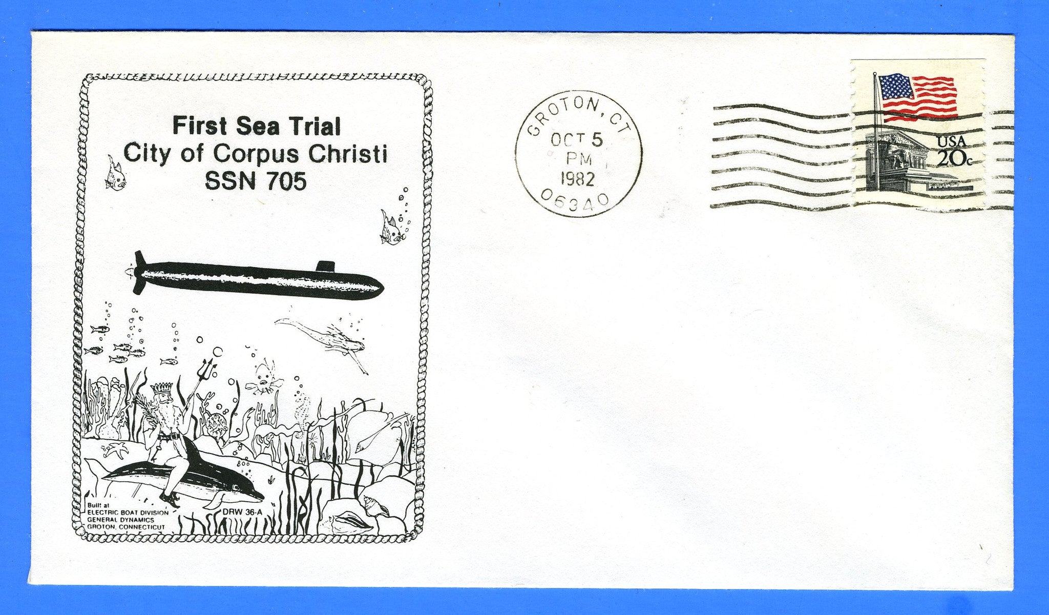 USS City of Corpus Christi SSN-703 First Sea Trial October 5,  1982