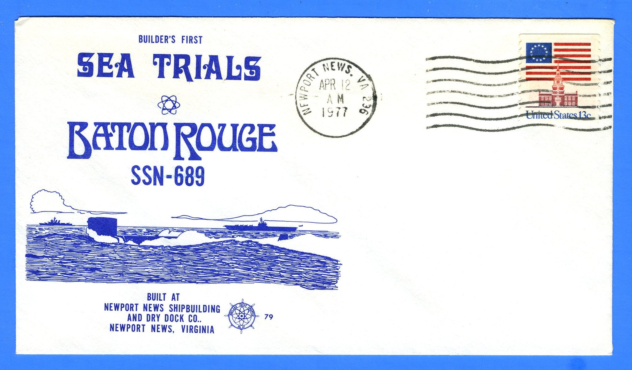 USS Baton Rouge SSN-689 First Sea Trials April 12, 1977