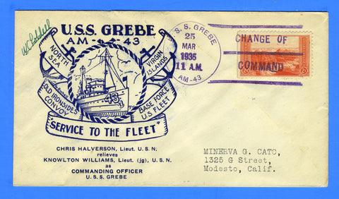 USS Grebe AM-43 Change of Command March 25, 1935