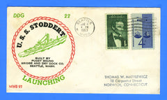 USS Stoddert DDG-22 Launched January 8, 1963 - Beck MWB97