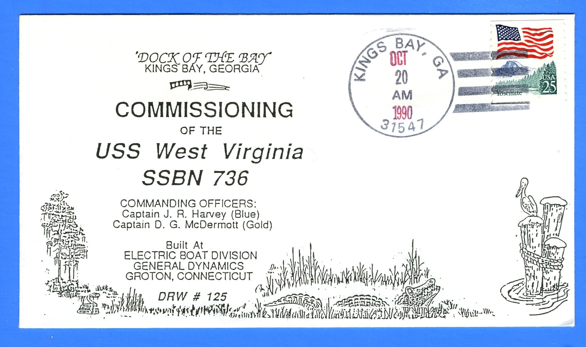 USS West Virginia SSBN-736 Commissioned Oct 20, 1990 - DRW 125