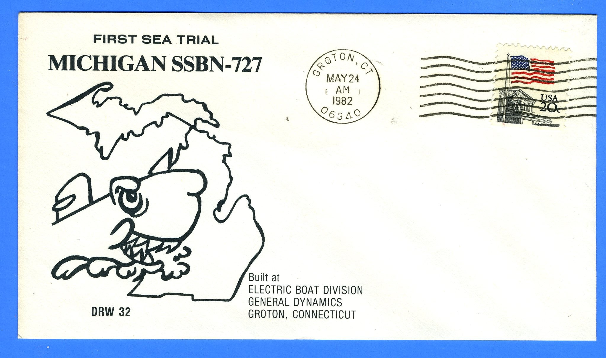 USS Michigan SSBN-727 First Sea Trial May 24, 1982 - DRW 32