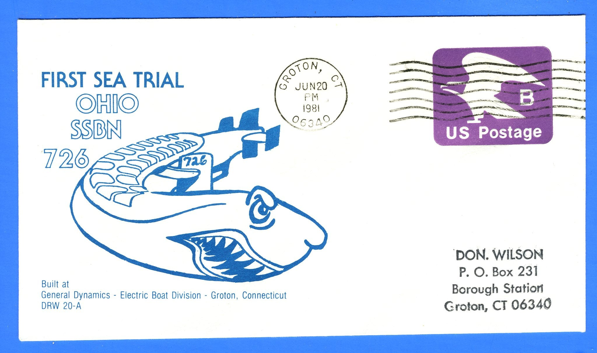 USS Ohio SSBN-726 First Sea Trial June 20, 1981 - DRW 20A