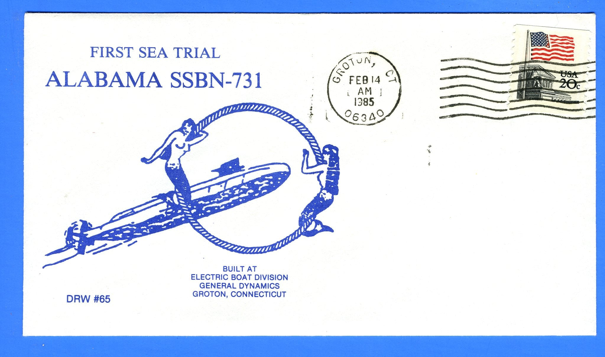 USS Alabama SSBN-731 First Sea Trial Feb 14, 1985 - DRW 65