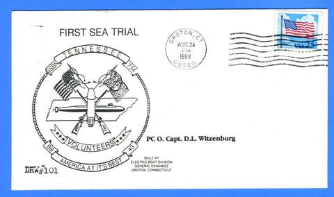 USS Tennessee SSBN-734 First Sea Trial August 24, 1988 - DRW 101