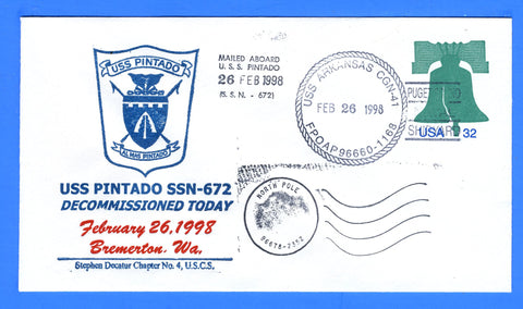 USS Pintado SSN-672 Decommissioned February 26, 1998 - USCS Chapter No. 4 Stephen Decatur
