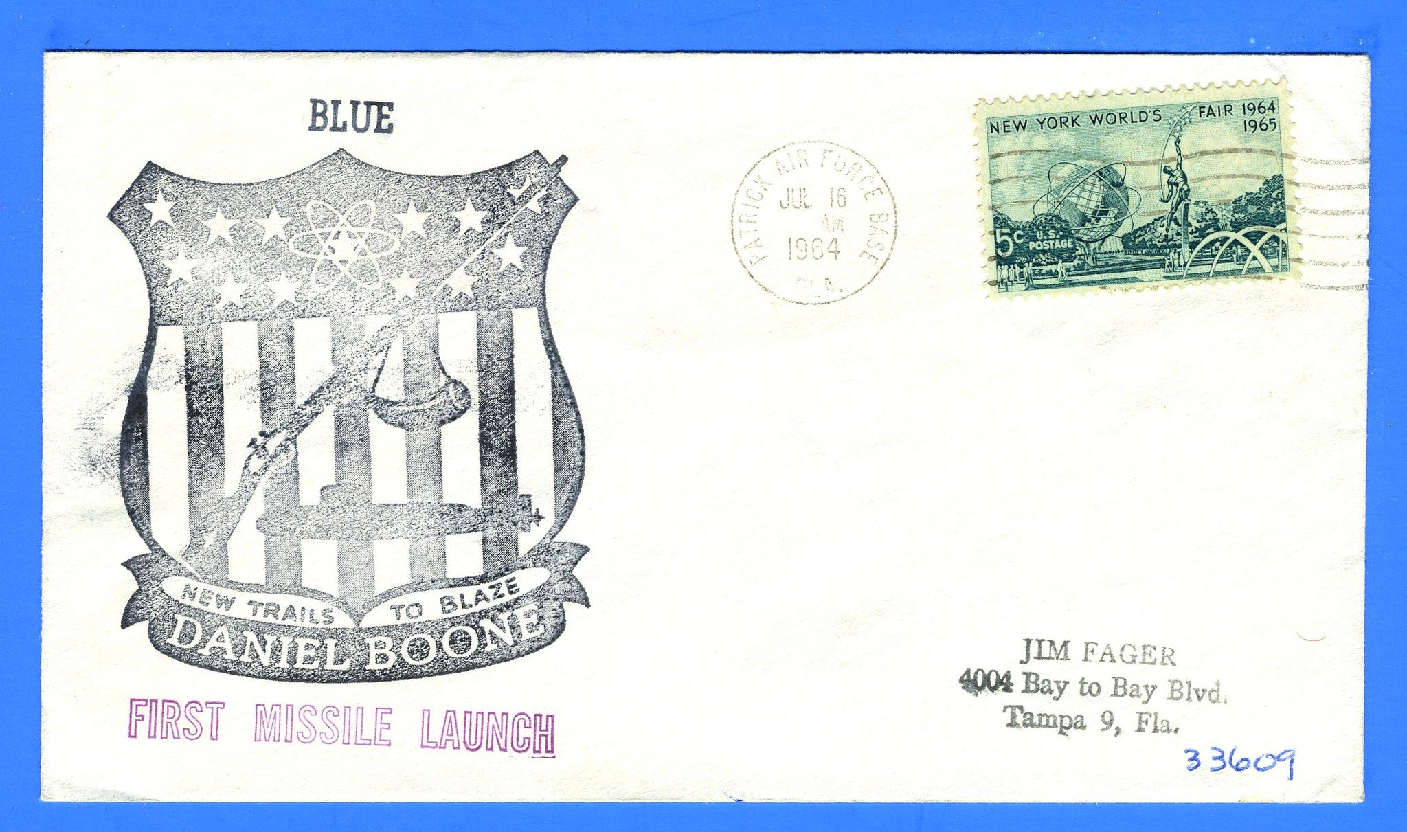 USS Daniel Boone SSBN-629 First Missile Launch (Blue) July 16, 1964