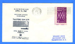 USS Tautog SSN-639 Launched April 15, 1967 - Cachet Maker USCS Chapter 4 Stephen Decatur