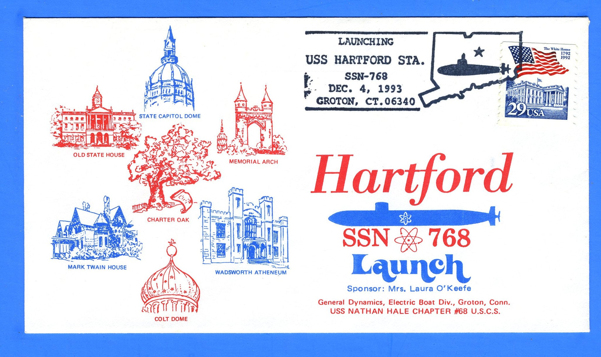 USS Hartford SSN-768 Launched December 4, 1993