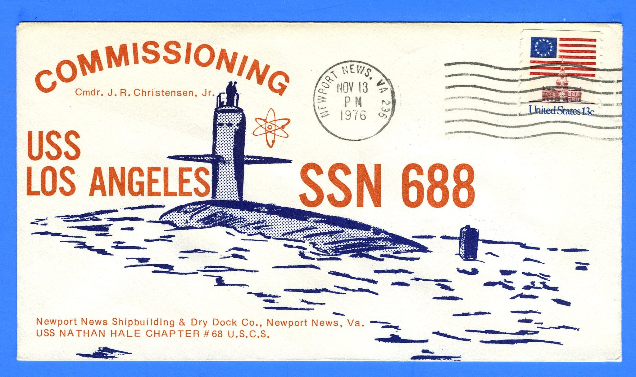 USS Los Angeles SSN-688 Commissioned November 13, 1976