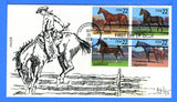 Scott 2158a American Horses First Day Cover by chaczyk
