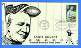 Scott 2376 22c Knute Rockne First Day Cover by Garik Cachets