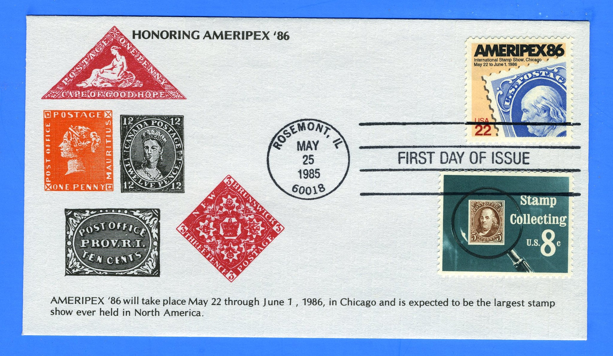 Scott 2145 22c AMERIPEX 86 Combo First Day Cover by KMC Venture