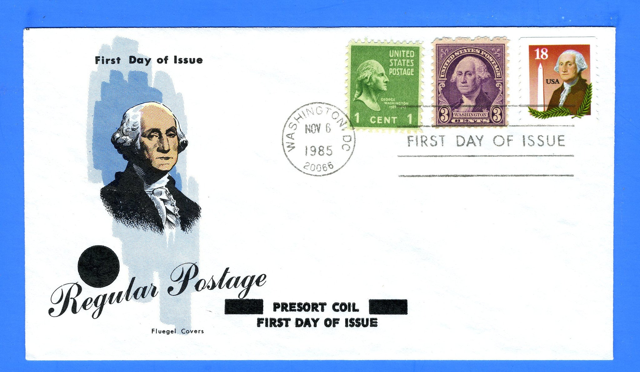 Scott 2149 18c Washington Monument Combo First Day Cover on a Fluegel Cover