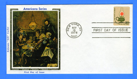 Scott 1611 $2 Kerosene Lamp First Day Cover by Colorano