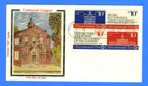 Scott 1546a Continental Congress First Day Cover by Colorano - Very Early
