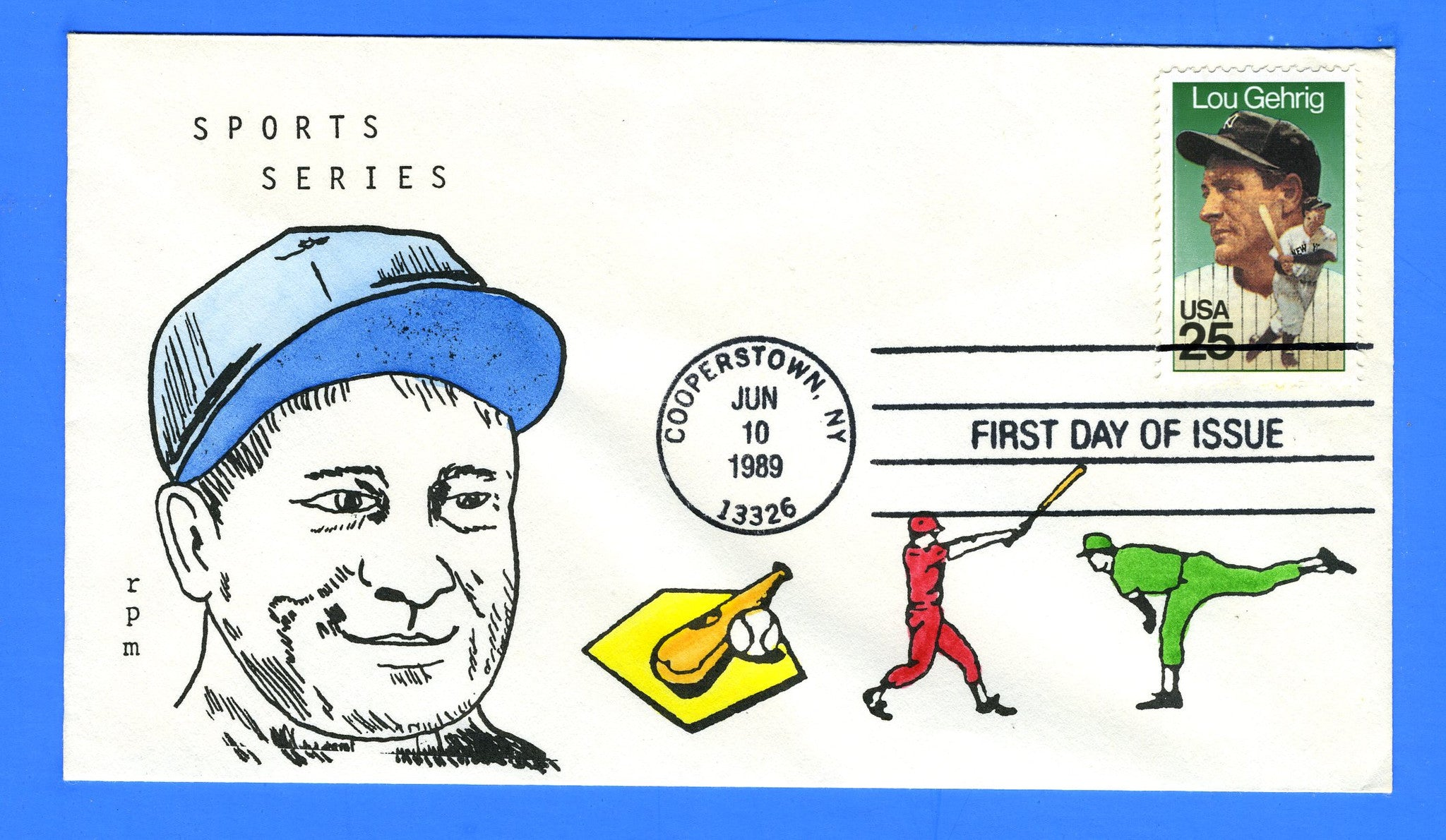 Scott 2417 25c Lou Gehrig First Day Cover by rpm