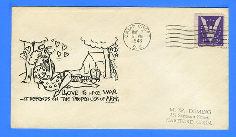 """Love is Like War"" Patriotic Cover Camp Croft, SC May 7, 1943"