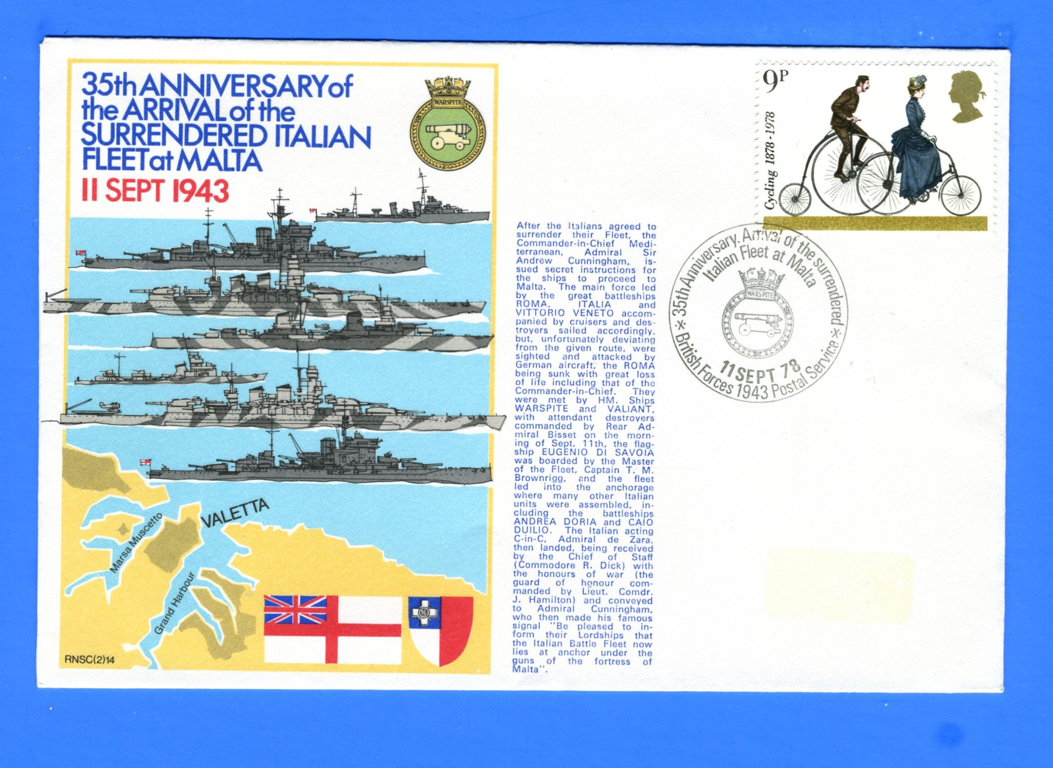 35th Anniversary of the Arrival of the Surrendered Italian Fleet September 11, 1978