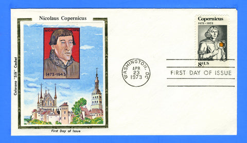 Scott 1488 8c Copernicus First Day Cover Very Early Colorano