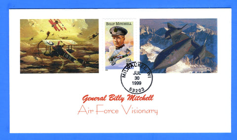 Scott 3330 55c Billy Mitchell First Day Cover by Great Southern Cover Co