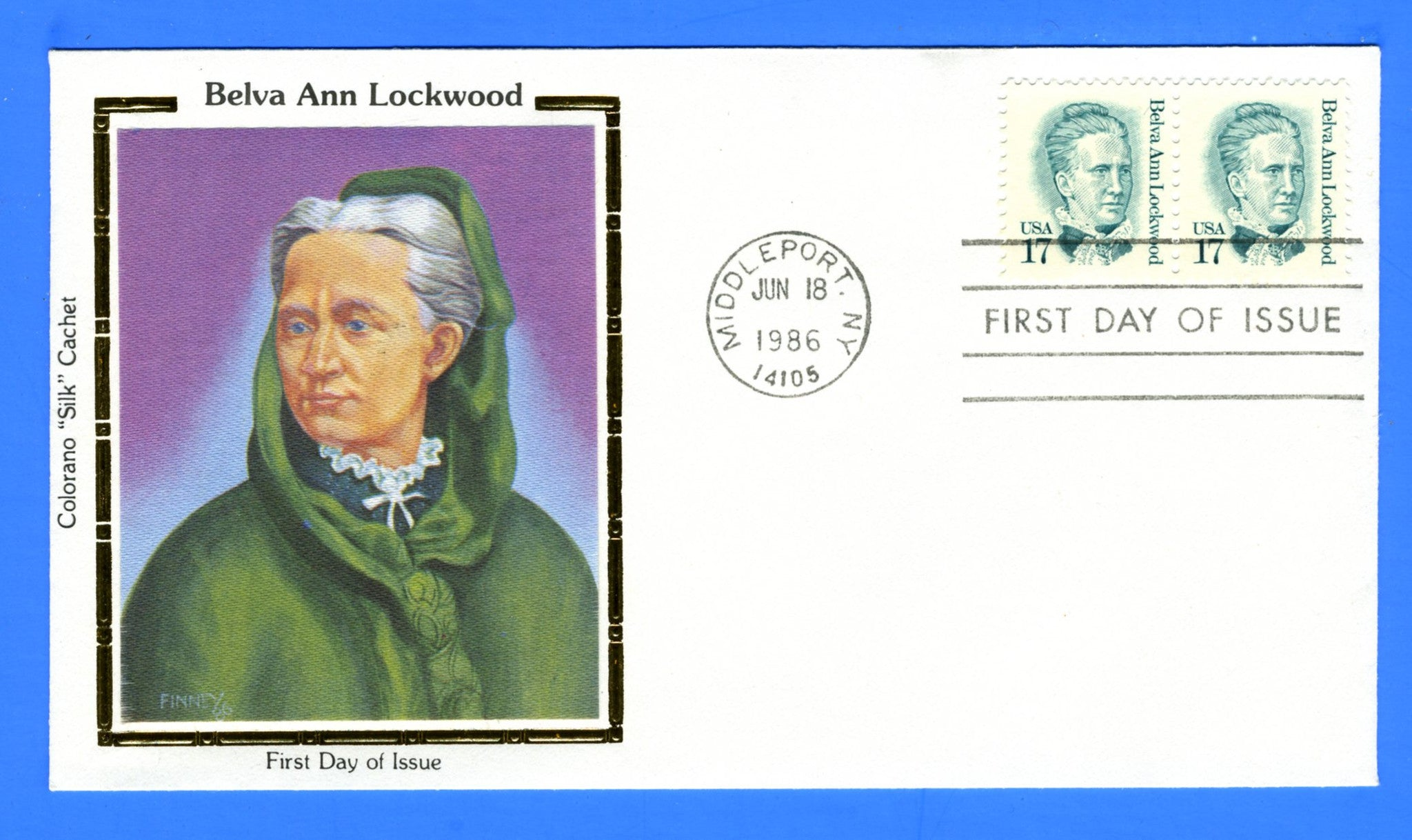 Scott 2178 17c Belva Ann Lockwood First Day Cover by Colorano