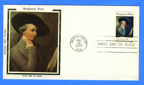 Scott 1553 10c Benjamin West First Day Cover Early Colorano