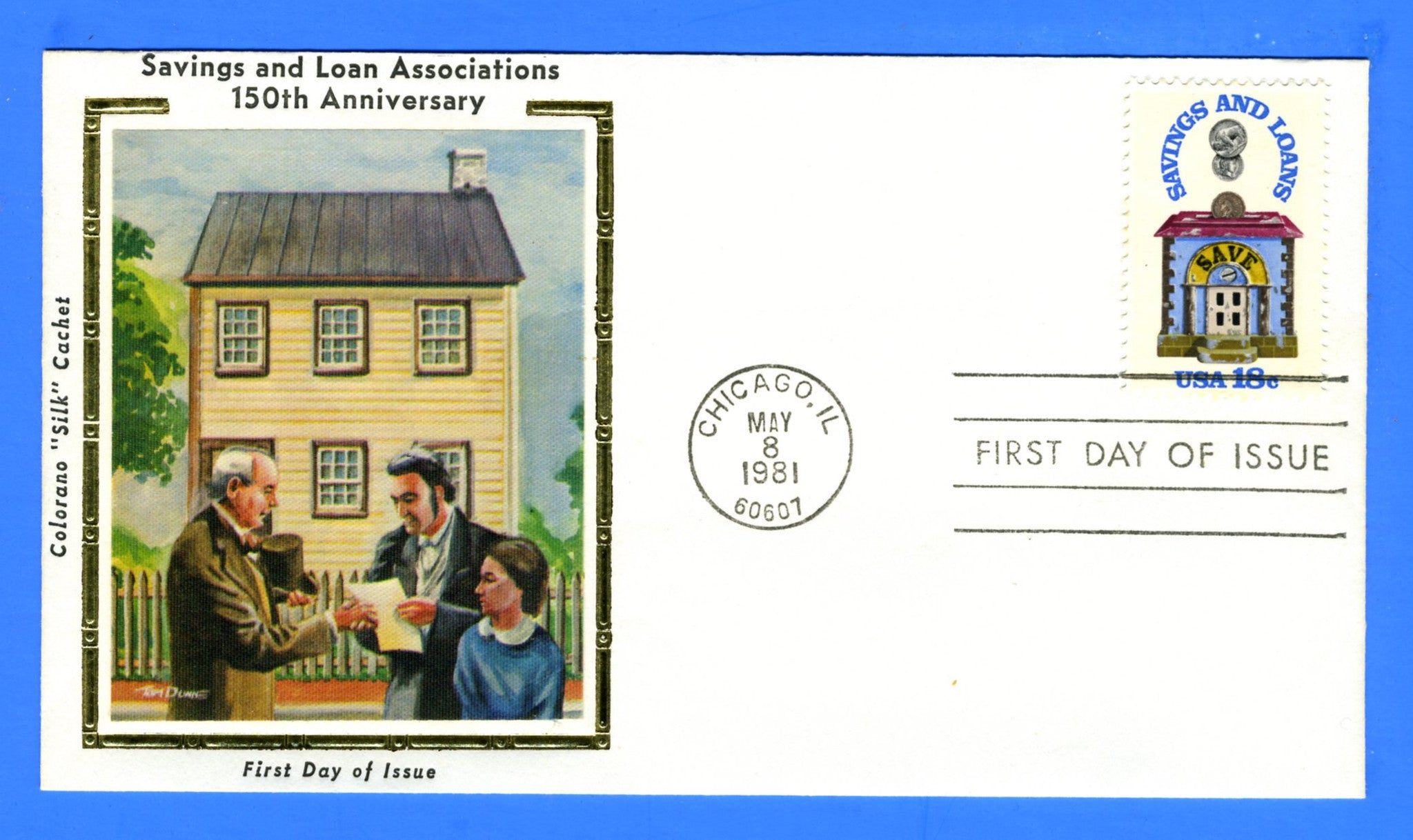 Scott 1911 18c Savings and Loans First Day Cover by Colorano