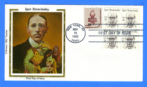 Scott 1845 2c Igor Stravinsky First Day Cover by Colorano