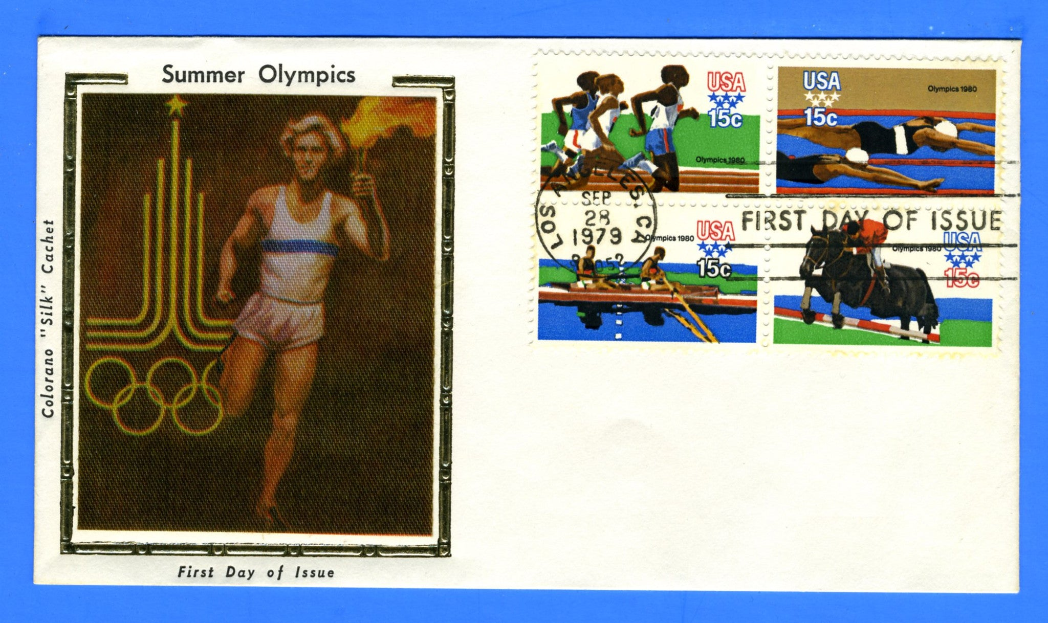 Scott 1794a 15c Summer Olympics First Day Cover by Colorano