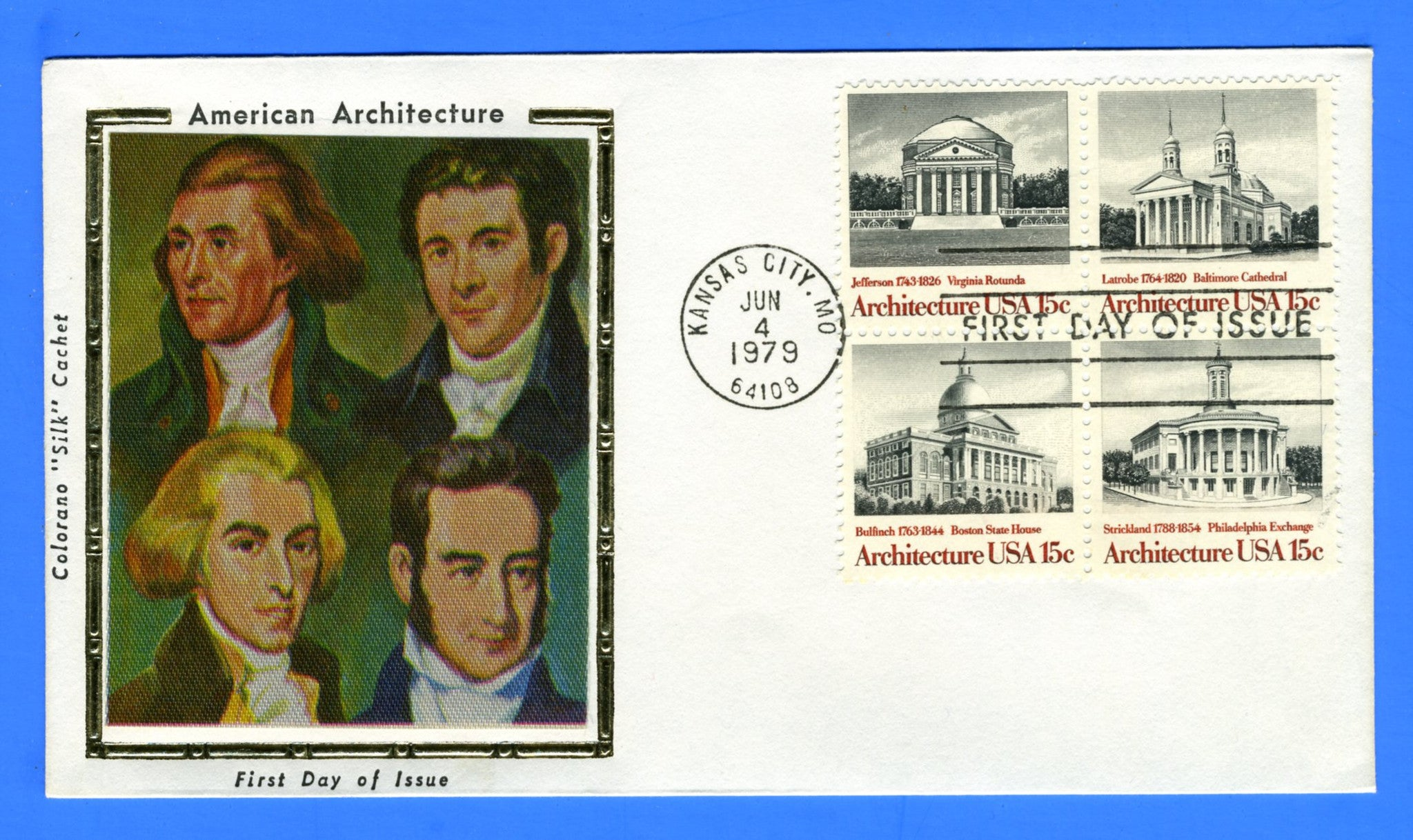 Scott 1782a 15c American Architecture First Day Cover by Colorano