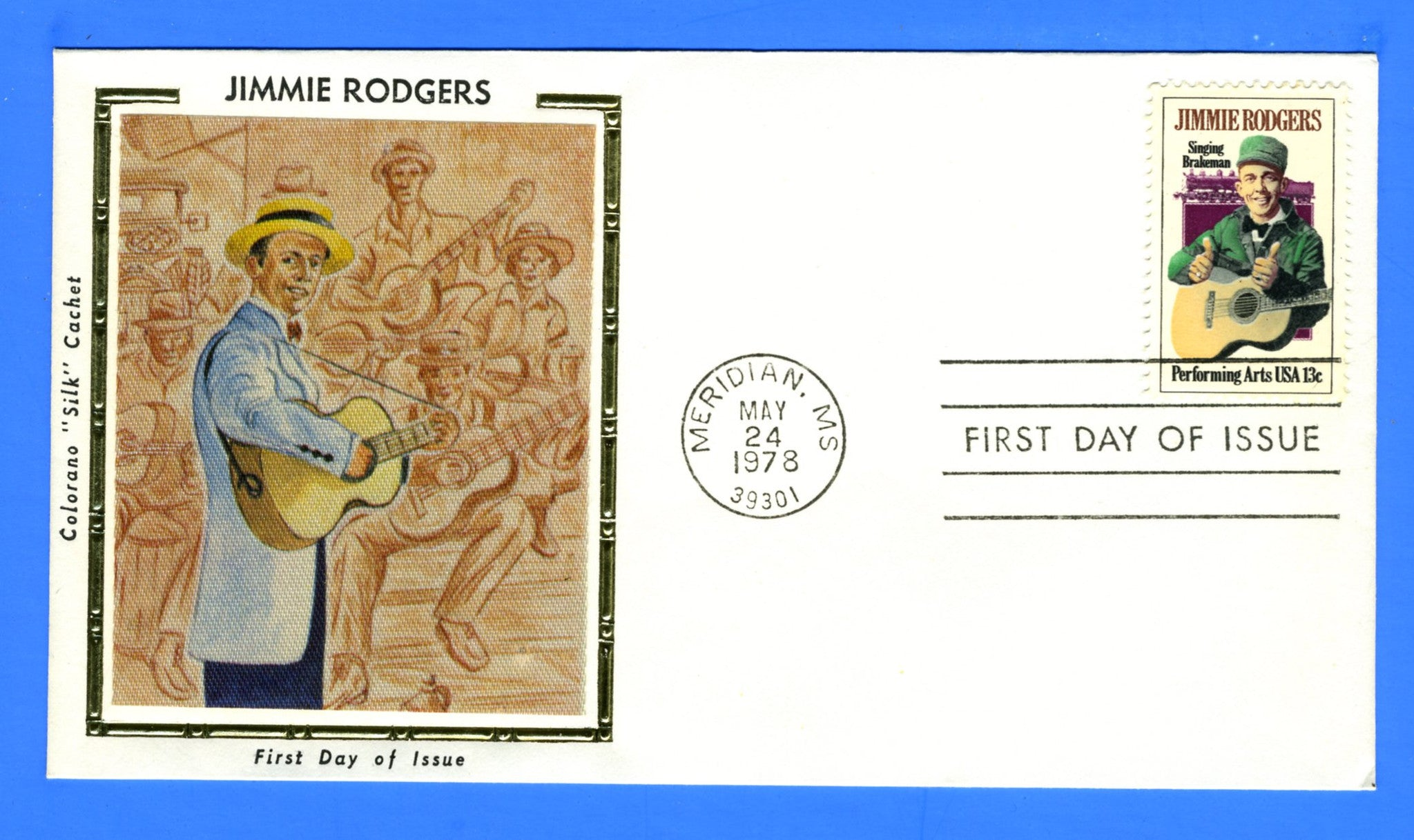 Scott 1775 13c Jimmie Rodgers First Day Cover Early Colorano