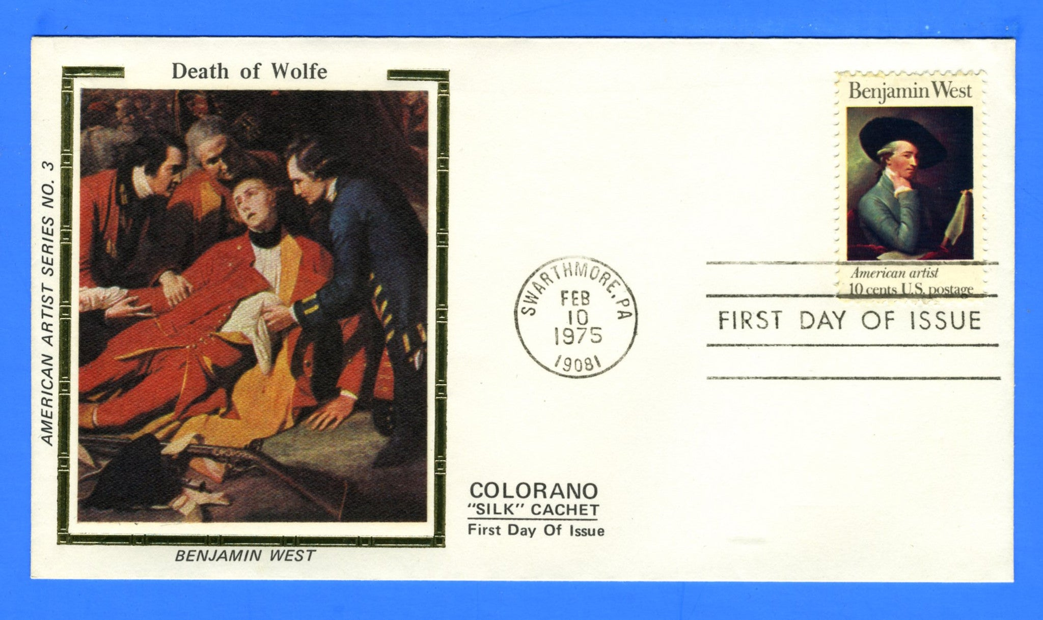 Scott 1553 10c Benjamin West First Day Cover Early Colorano Cachet