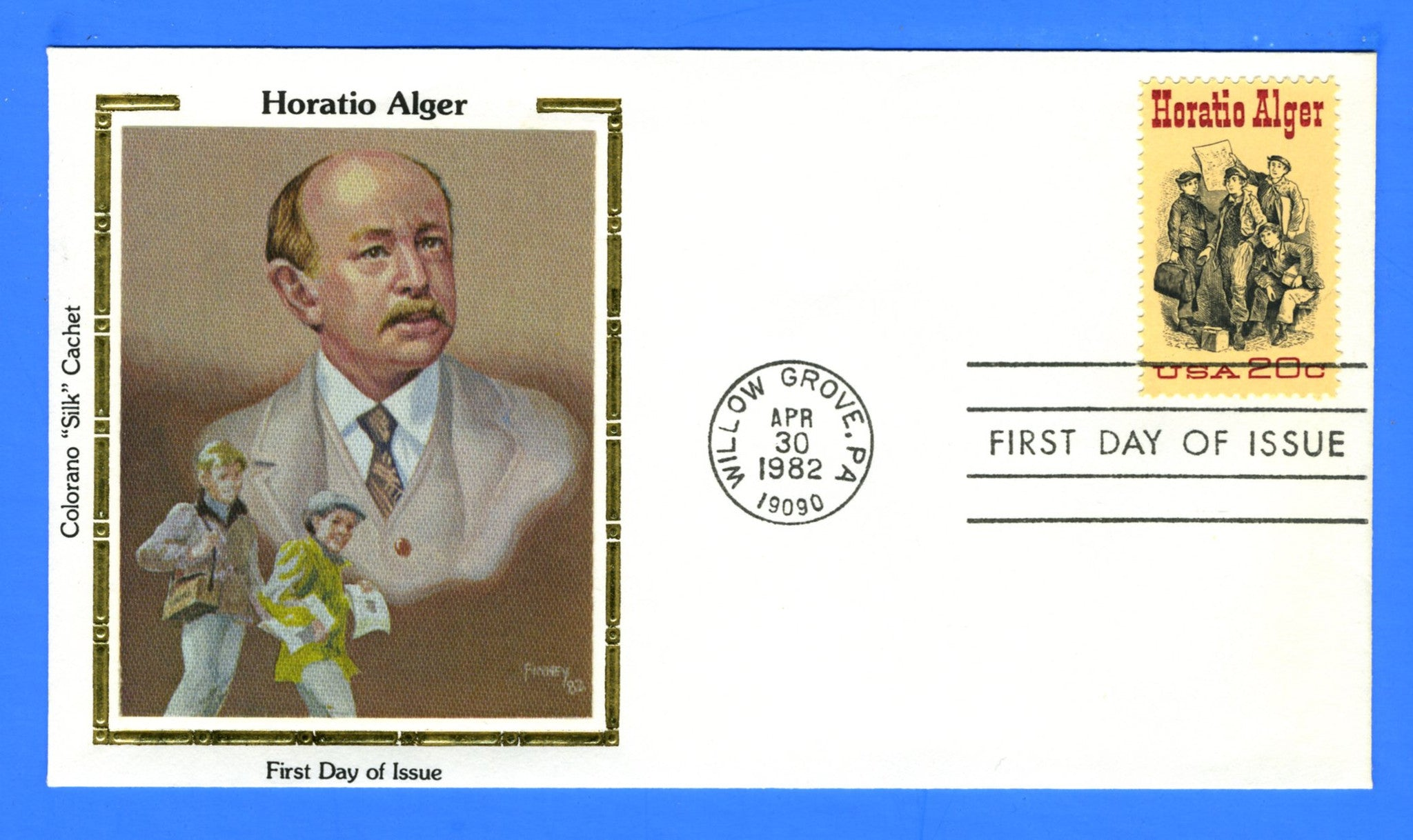 Scott 2010 20c Horatio Alger First Day Cover by Colorano