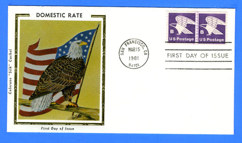 "Scott 1820 ""B"" Rate Coil Pair First Day Cover by Colorano"