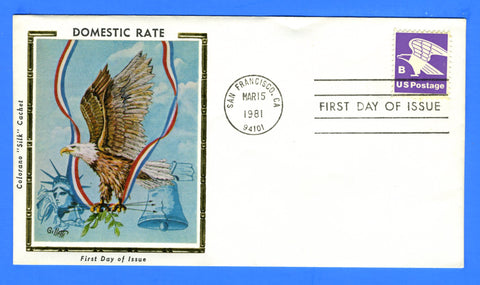 "Scott 1818 ""B"" Rate First Day Cover by Colorano"