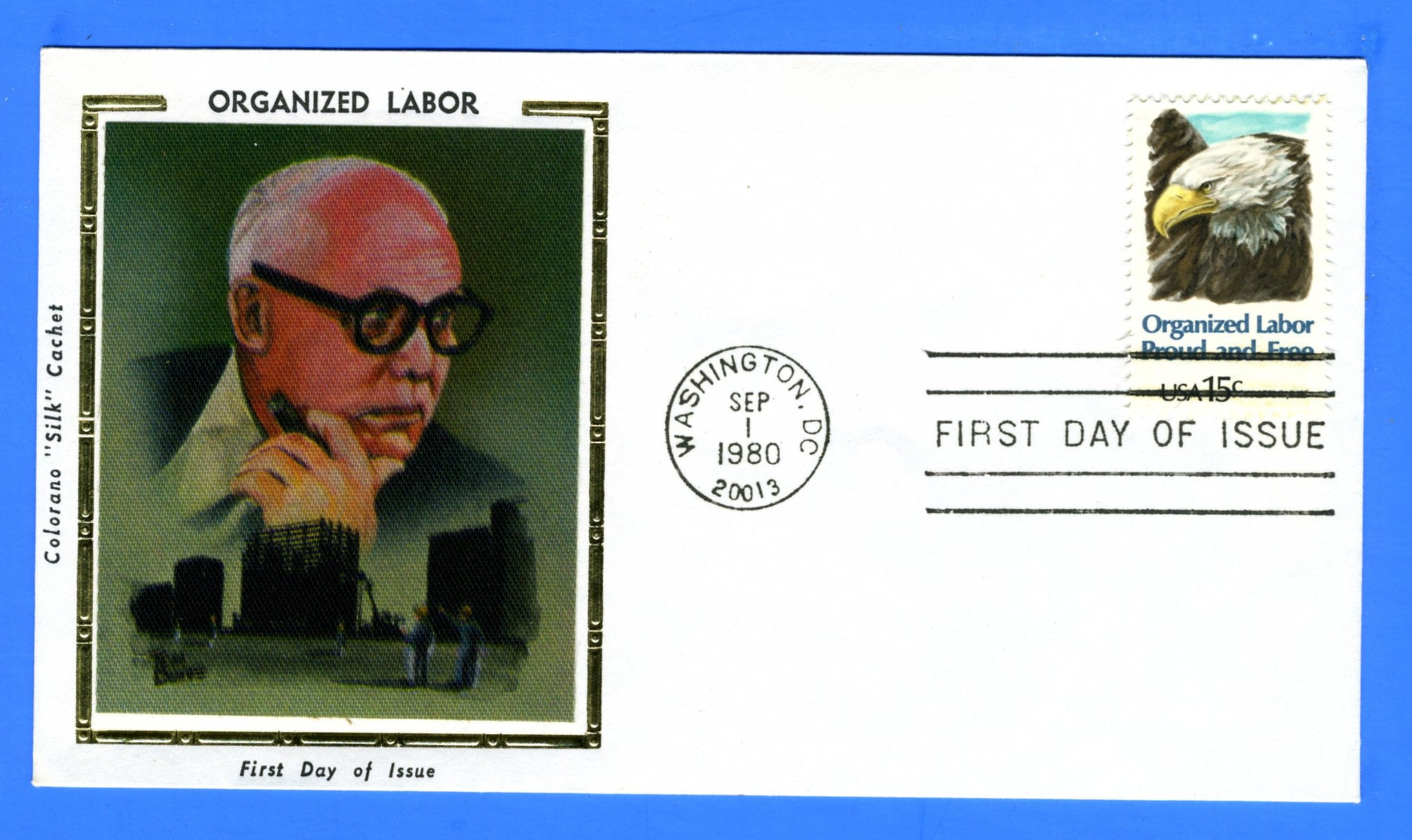 Scott 1831 15c Organized Labor First Day Cover by Colorano