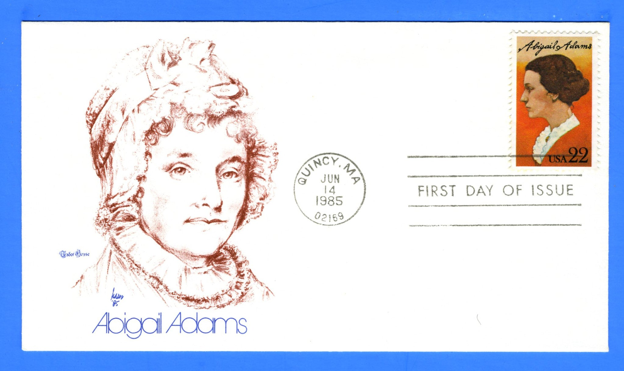 Scott 2146 22c Abigail Adams First Day Cover by Tudor House