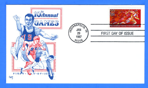 Scott 2247 22c Pan American Games First Day Cover by Marg