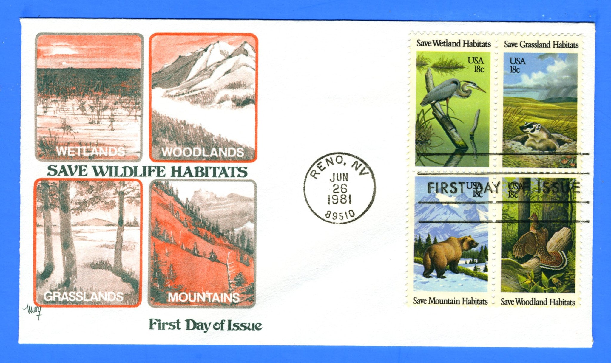 Scott 1924a 18c Save Wetland Habitats First Day Cover by Marg