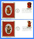 Scott 1775-78 15c Pennsylvania Toleware Set of 4 First Day Covers by Colorano
