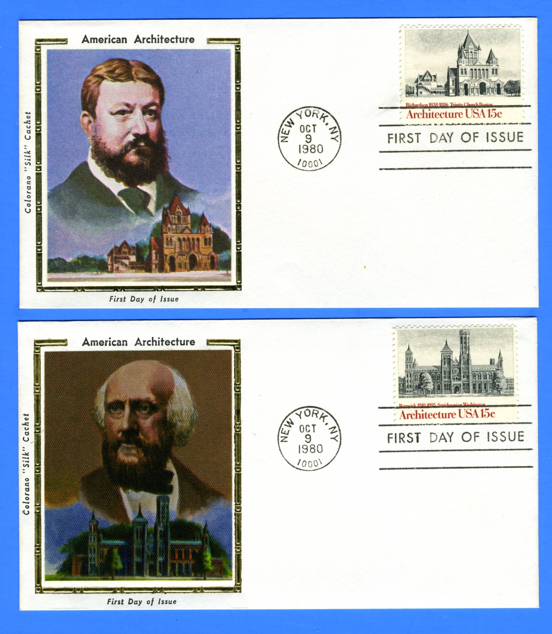 Scott 1838-41 15c American Architecture Set of 4 First Day Covers by Colorano