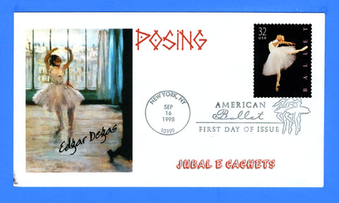 Scott 3237 32c Ballet First Day Cover by Jubal E Cachets (Great Southern Cover Co)