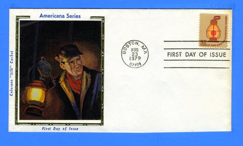Scott 1612 $5 Railroad Lantern First Day Cover by Colorano