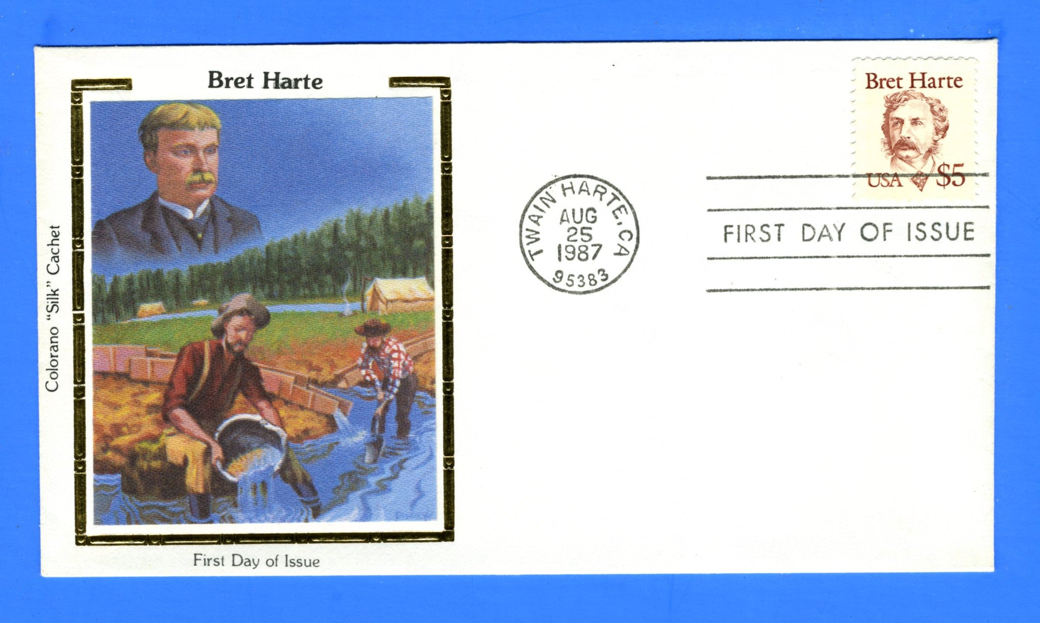 Scott 2196 $5 Bret Harte First Day Cover by Colorano
