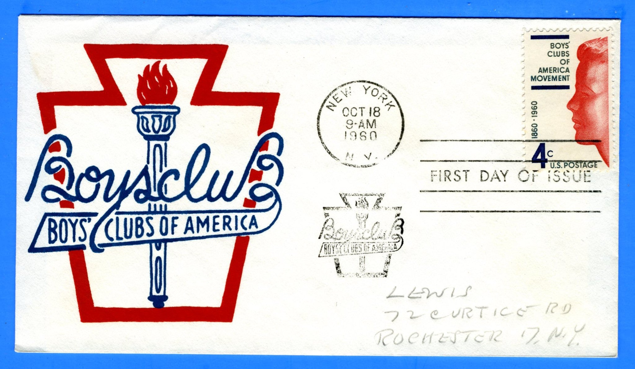 Scott 1163 Boys Club of America Silk Screen First Day Cover by Eric Lewis - Very Rare - Only Nine Known Copies