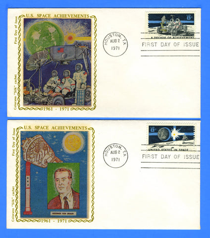 Scott 1434-35 Space Achievements Set of Two First Day Covers Early Colorano