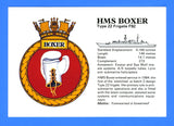 HMS Boxer Type 22 Frigate F92 Postcard by MoD Central Graphics Pool (Navy) London